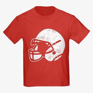 Vintage Football Helmet Kids Dark T-Shirt