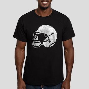 Vintage Football Helmet Men's Fitted T-Shirt (dark