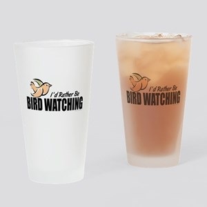 Bird Watching Drinking Glass