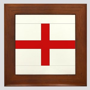 English Flag Framed Tile