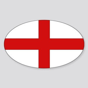 English Flag Oval Sticker