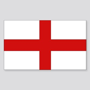 English Flag Rectangle Sticker