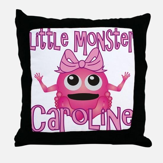 Little Monster Caroline Throw Pillow
