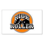 High roller Rectangle Sticker