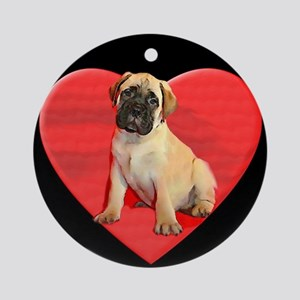 Bullmastiff puppy Round Ornament