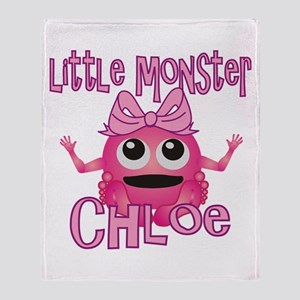 Little Monster Chloe Throw Blanket