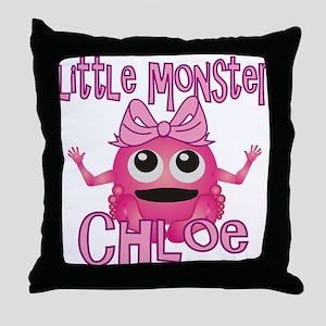 Little Monster Chloe Throw Pillow