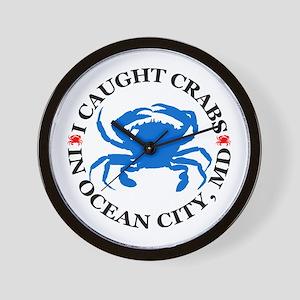 I caught crabs in Ocean City Wall Clock