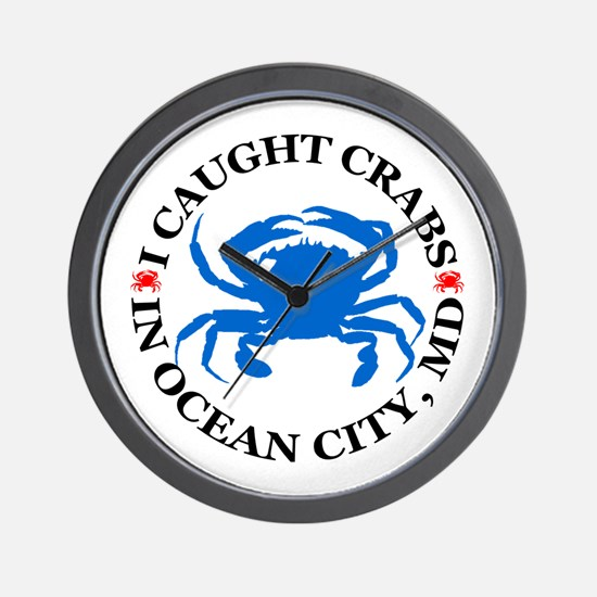 I caught crabs in Ocean City Wall Clock