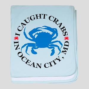 I caught crabs in Ocean City baby blanket