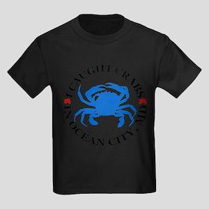 I caught crabs in Ocean City Kids Dark T-Shirt