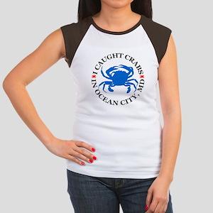 I caught crabs in Ocean City Women's Cap Sleeve T-