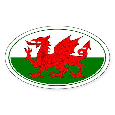 Wales UK Oval Sticker