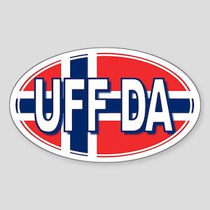 UFF DA - Oval Sticker