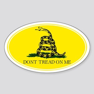 Don't Tread On Me - Sticker (Oval)