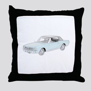 Ford Mustang Coupe 1964 -colo Throw Pillow