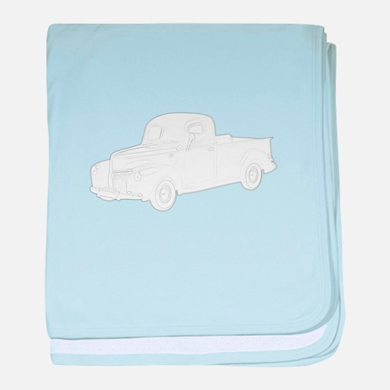 Ford Pickup 1940 baby blanket