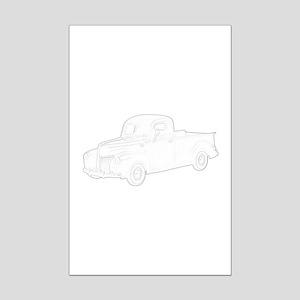 Ford Pickup 1940 Mini Poster Print