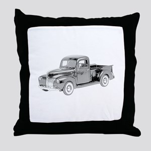 Ford Pickup 1940 -colored Throw Pillow