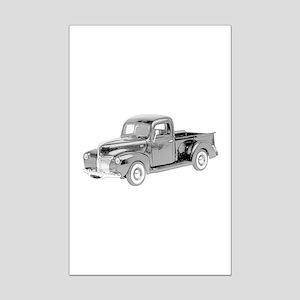 Ford Pickup 1940 -colored Mini Poster Print