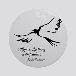 Feathered Hope Silver Ornament (Round)
