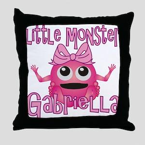 Little Monster Gabriella Throw Pillow