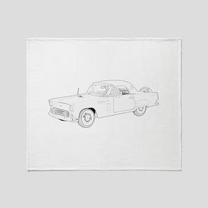 Ford Thunderbird 1956 Throw Blanket
