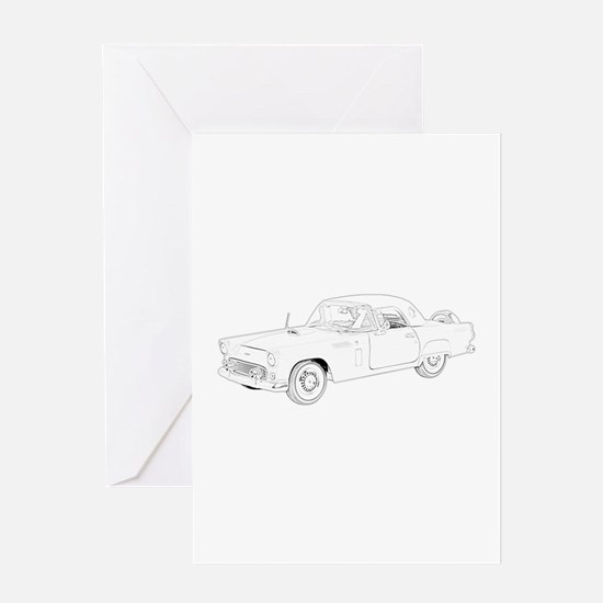 Ford Thunderbird 1956 Greeting Card