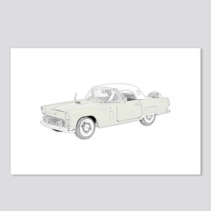 Ford Thunderbird 1956 -colore Postcards (Package o