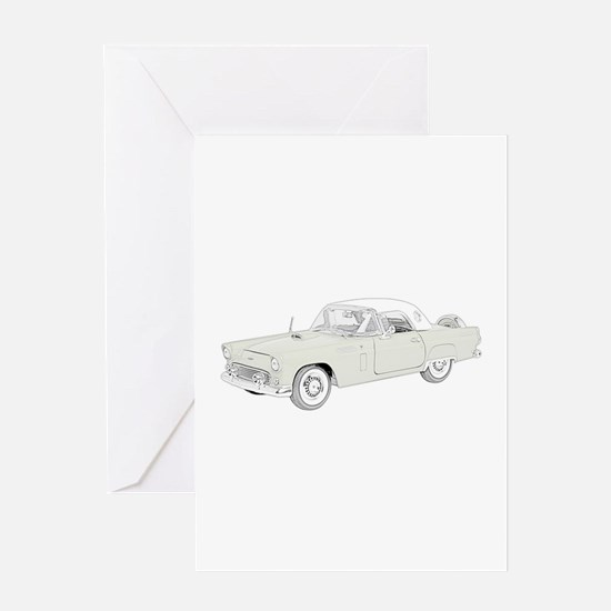Ford Thunderbird 1956 -colore Greeting Card