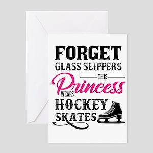 Forget Princess Hockey Skates desig Greeting Cards