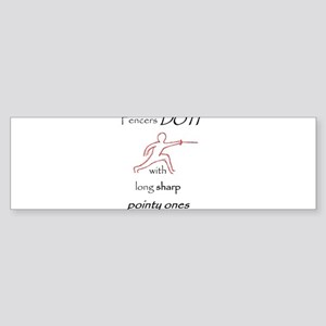 Fencers Do It Sticker (Bumper)