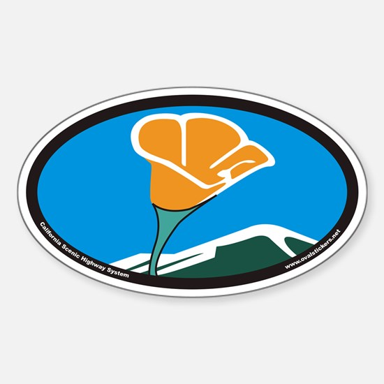 California Scenic Highway System Euro Oval Decal