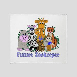 Future Zookeeper Throw Blanket