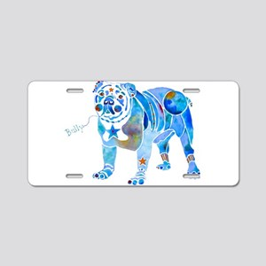 English Bulldogs 2 Aluminum License Plate