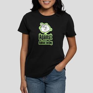 Against Animal Testing Women's Dark T-Shirt