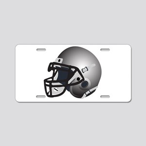 Grey or silver Football Helmets Aluminum License P