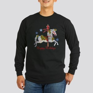 Christmas Carousel Long Sleeve Dark T-Shirt