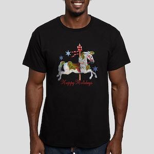 Christmas Carousel Men's Fitted T-Shirt (dark)