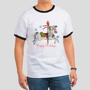 Christmas Carousel Ringer T