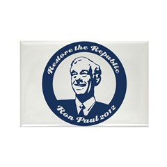 Ron Paul Republic Circle Rectangle Magnet
