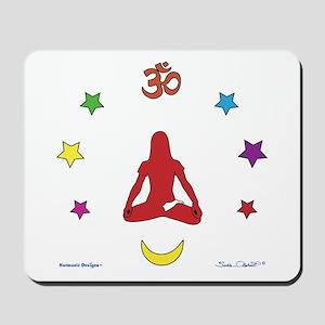Yoga Girl (Red) Mousepad
