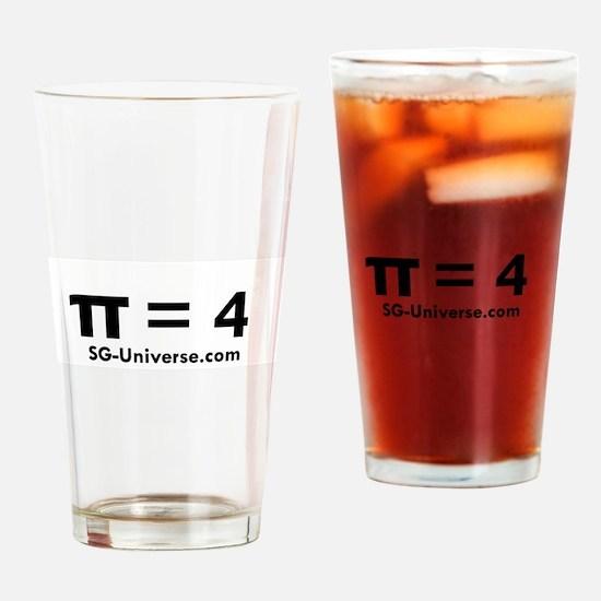 Pi = 4 Drinking Glass