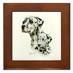 Dalmatian Framed Tile