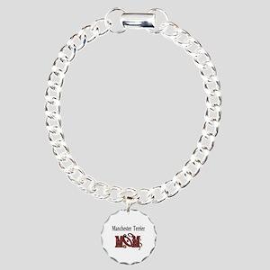 Manchester Terrier Mom Charm Bracelet, One Charm