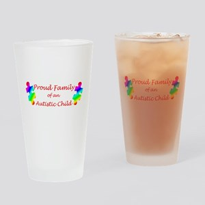 Autism Family Drinking Glass