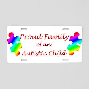 Autism Family Aluminum License Plate