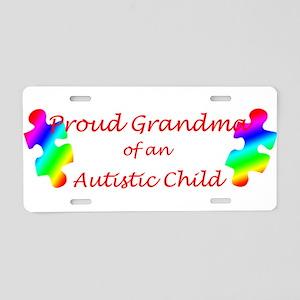 Autism Grandma Aluminum License Plate