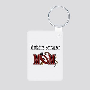 Miniature Schnauzer Gifts Aluminum Photo Keychain