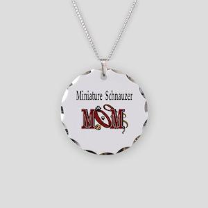 Miniature Schnauzer Gifts Necklace Circle Charm